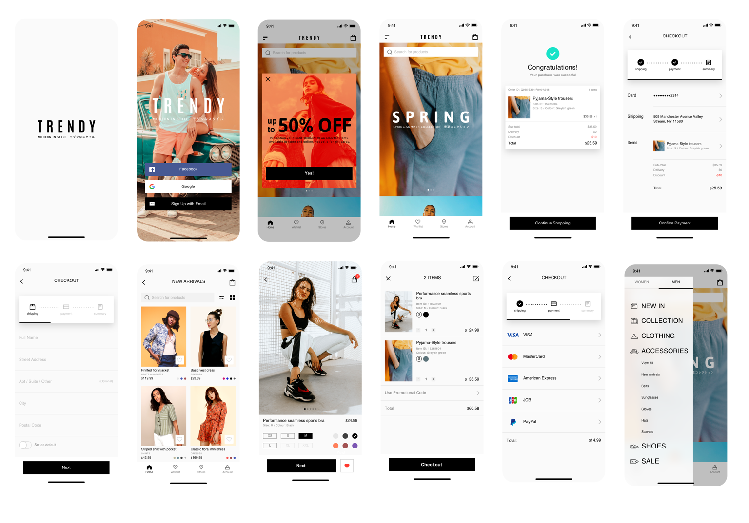 Mobile App UI Design Image