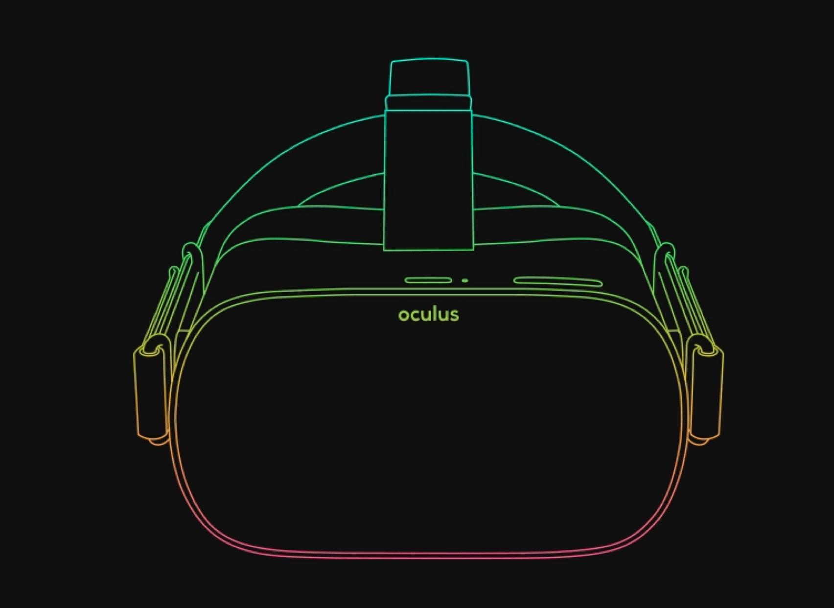 An Oculus VR Quest developer headset